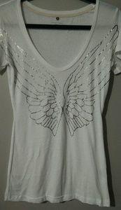 VICTORIAS SECRET T Shirt Angel Wings Small